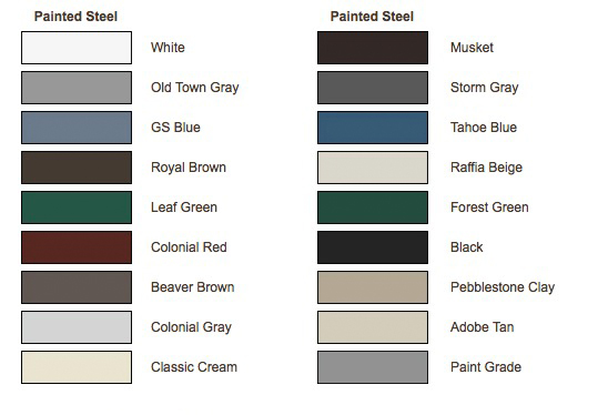 color options for rain gutters