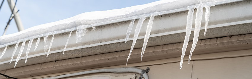How to Clear Ice build up in gutters