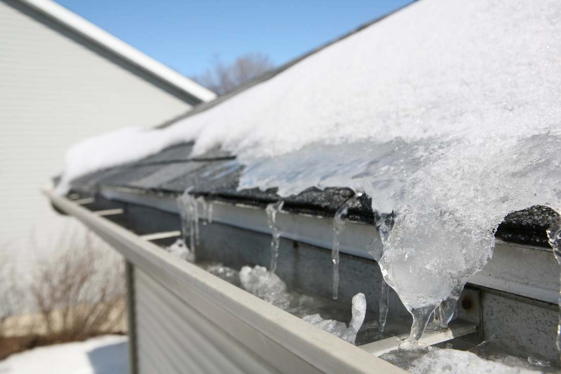 Gutter Ice Damage