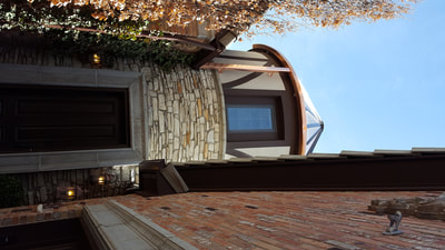 Radius Copper Gutter